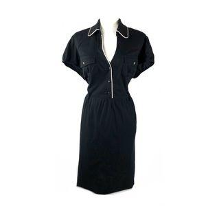 Torrid  collar dress black retro pin up cap sleeve